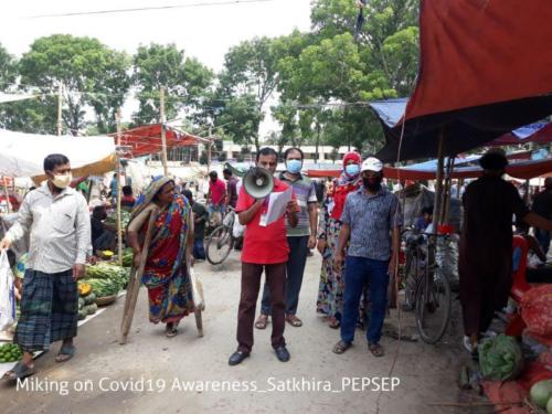 4 Apr Miking on Covid19 Awareness Satkhira PEPSEP
