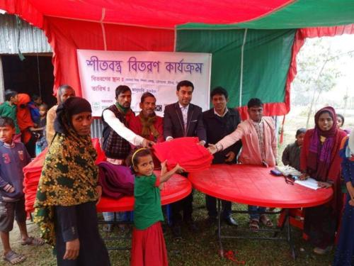 Cloth distribution among the rural poor children