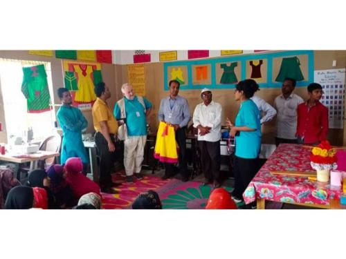 DAM Pekuya MPC visited by UNICEF chief of Cox's Bazar field office Mr. Jean Metenier, January 2020 (3)