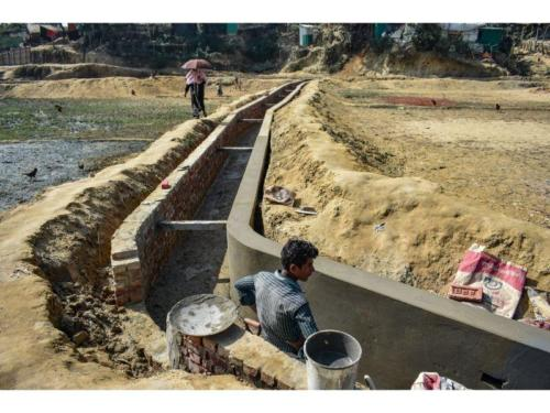 Drain Construction, Rohingya Project, Ukhiya