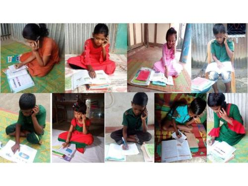 Mobile phone based education support in Haor areas learners